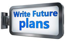 Scriva i progetti per il futuro sul tabellone per le affissioni royalty illustrazione gratis