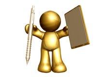 Scriva il vostro messaggio su questa scheda di messaggio in bianco Immagini Stock