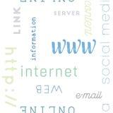 Scriva il web a macchina del modello senza cuciture Immagine Stock