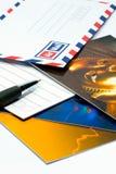 Scriva la cartolina fotografia stock libera da diritti