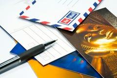 Scriva la cartolina Fotografie Stock Libere da Diritti