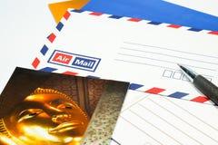 Scriva la cartolina Immagine Stock