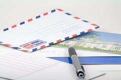 Scriva la cartolina a qualcuno Fotografia Stock Libera da Diritti