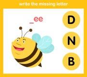 Scriva la lettera mancante royalty illustrazione gratis