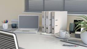 scrivania moderna 3D Immagini Stock Libere da Diritti