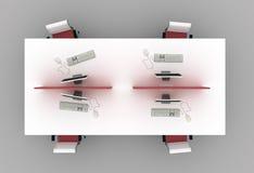 Scrivanie del sistema con i divisorii Fotografia Stock Libera da Diritti