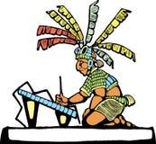 Scrivano Mayan Fotografie Stock Libere da Diritti