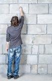 Scrivendo sulla parete Fotografia Stock Libera da Diritti