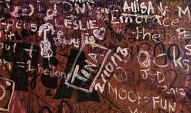 Scrivendo sulla parete Immagine Stock