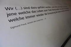 Scrivendo sulla parete nel museo di Sigmund Freud Immagini Stock Libere da Diritti