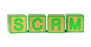 SCRM - Χρωματισμένοι φραγμοί αλφάβητου των παιδιών. Στοκ Εικόνες