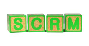 SCRM - Colored Childrens Alphabet Blocks. Stock Photo