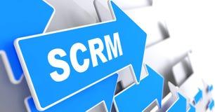 SCRM. Conceito da tecnologia da informação. Imagem de Stock Royalty Free