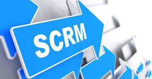 SCRM. Information Technology Concept. Royalty Free Stock Image