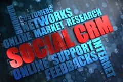 SCRM. Wordcloud Concept. Stock Photos