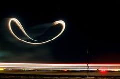 Scrofa dell'aria di notte Fotografie Stock