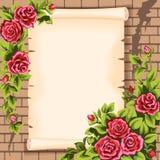 scrol τριαντάφυλλων ελεύθερη απεικόνιση δικαιώματος