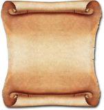 Scroll 01. Brown Blank Ancient Leather Scroll 01 Stock Image