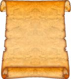 Scroll 07. Brown Blank Ancient Leather Scroll Royalty Free Stock Photo