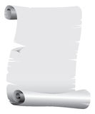 Scroll. A black and white old scroll Royalty Free Stock Image