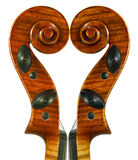 Scroll. Image of the violin scrolls was created from only one scroll Royalty Free Stock Photo