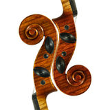 Scroll. Image of the violin scrolls was created from only one scroll Stock Photography