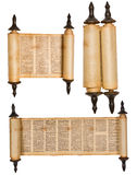 Scroll. Torah scroll isolated on white Stock Image