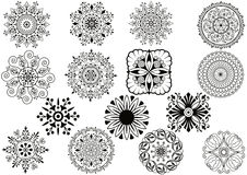 Scroll. Set of floral elements vector Stock Image