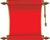 Scroll. A vector realistic scroll with Eps8 file added royalty free illustration