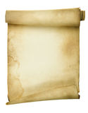 Scroll. Ancient scroll isolated over a white background Stock Images