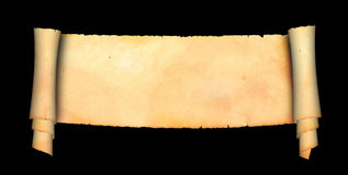 Scroll of ancient parchment. Stock Images