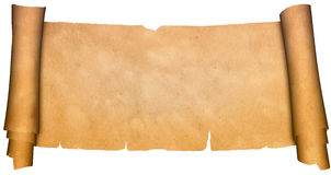 Scroll of antique parchment. royalty free stock photography
