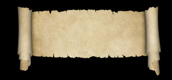 Scroll of antique parchment. Stock Photo
