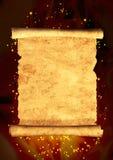 Scroll av gammal parchment stock illustrationer