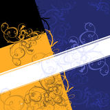 Scroll Background Banner. Yellow. Blue. Black Royalty Free Stock Photo