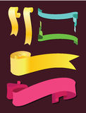 Scroll banner. Vector set. Eps Royalty Free Stock Photography