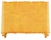 Scroll blank. An old roll of papyrus. Scroll Bblank. An old roll of papyrus, on a white background Stock Photo