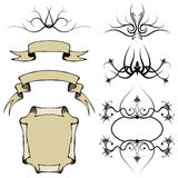 Scroll Border Design. An illustration of several scrolls and border elements Stock Images