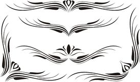 Scroll, cartouche, decor, vector royalty free stock images