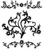 Scroll, cartouche, decor, vector Stock Images