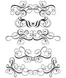 Scroll, cartouche, decor, vector Royalty Free Stock Photography