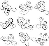Scroll, cartouche, decor, vector Stock Image