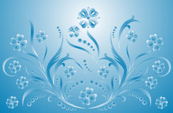 Scroll, cartouche, decor, vector illustration Royalty Free Stock Images