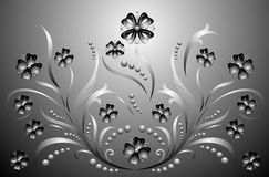 Scroll, cartouche, decor, vector illustration Royalty Free Stock Image