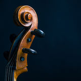 Scroll Cello. On a black background stock image