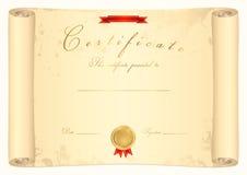 Scroll certificate vector illustration