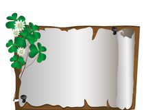 Scroll and clover Stock Photo