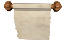 Scroll. 3D-Rendering of an scroll Royalty Free Stock Images