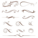 Scroll Design Set Royalty Free Stock Photography