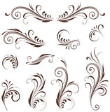 Scroll Design Set Royalty Free Stock Images